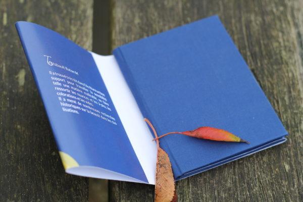 Elisabeth livre avec relon bleu lin